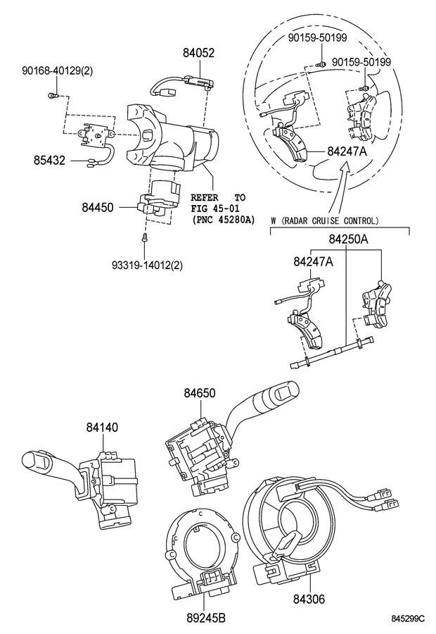 2004 2005 Toyota Sienna Steering Wheel Ons Stone New 8425008020b0