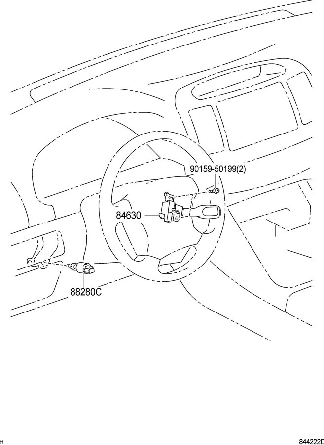 2001-2015 Toyota Lexus Scion Cruise Control Switch Stalk
