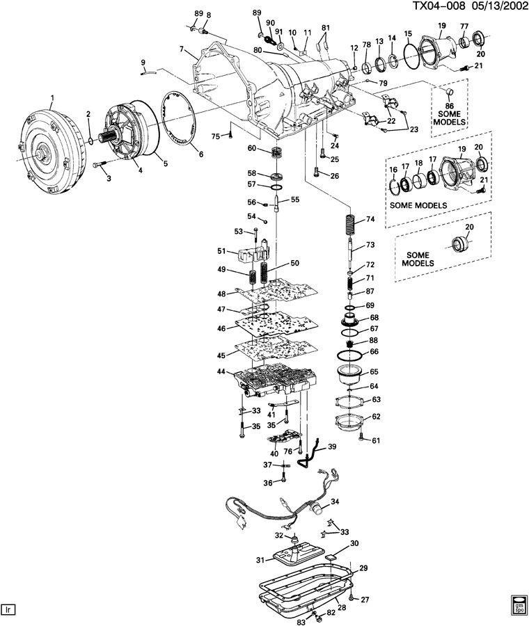 1997 4l60e Schematic