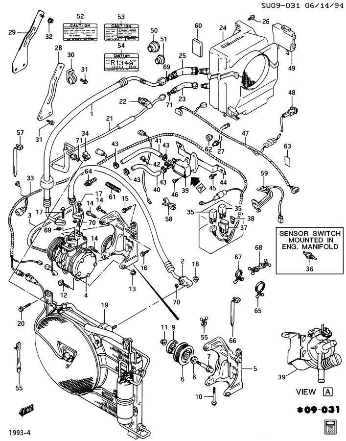 1989 C Clutch Relay New Oem 96060500 158643
