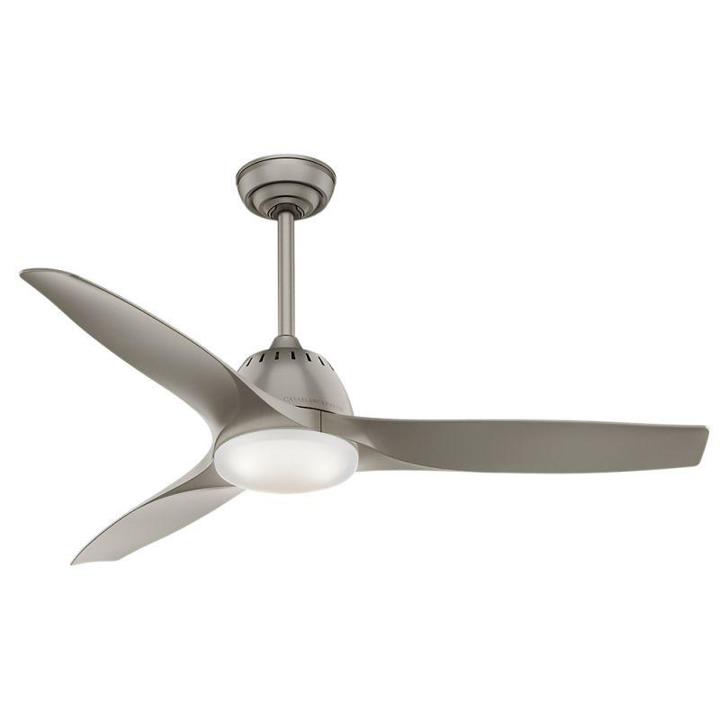 Casablanca 59152 Wisp 52 Quot Pewter 3 Blade Ceiling Fan W Led