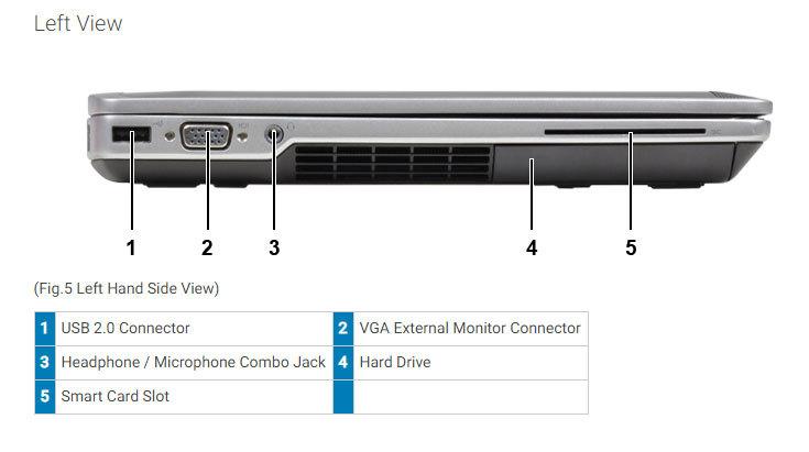 DELL LATITUDE E6430 LAPTOP WINDOWS 10 WIN DVD INTEL i5 2 5GHz 4GB 320GB HD  HDMI