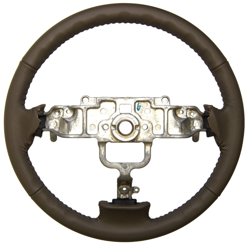 2003 2008 Mazda 6 Wheels For Sale: 2003-08 Mazda 6 Brown Leather Steering Wheel W/Dimples Incomplete New GS12000720