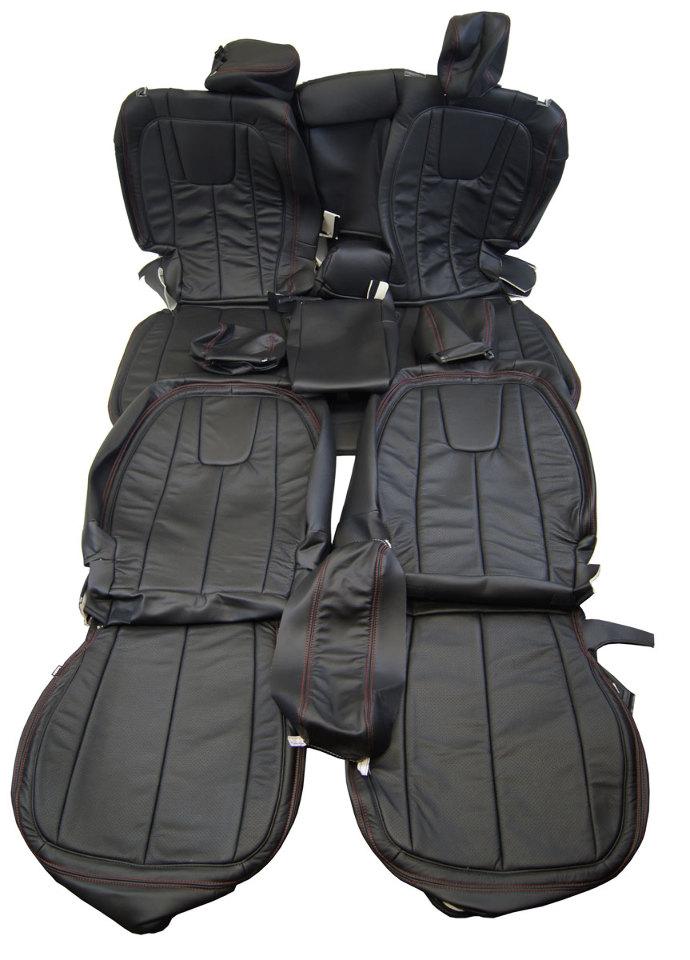 2012 16 Chevy Equinox Katzkin Seat Cover Set Perforated
