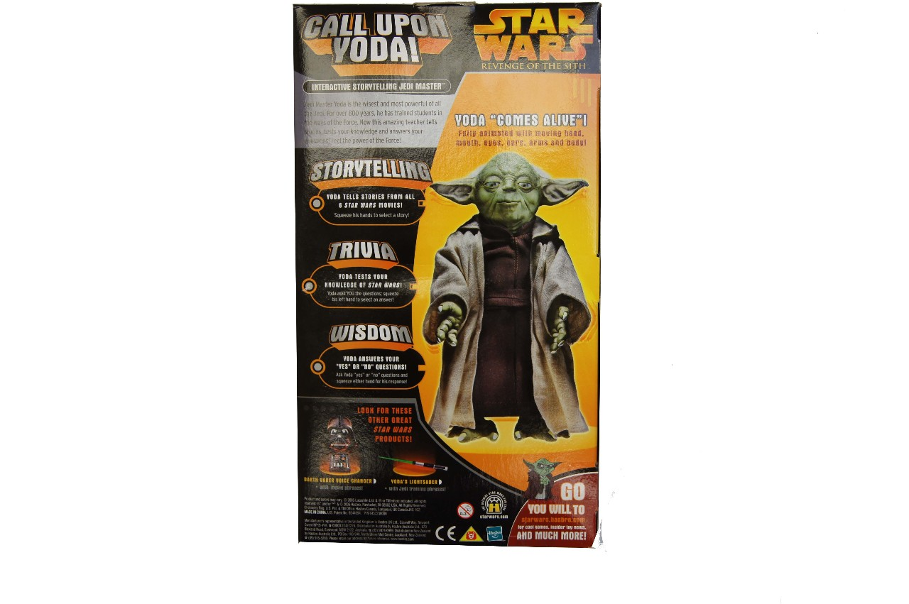 Star Wars CALL UPON YODA Electronic 12 Talking Figure over 500 phrases from Revenge of the Sith by Hasbro 2005 72955 mon0000127357
