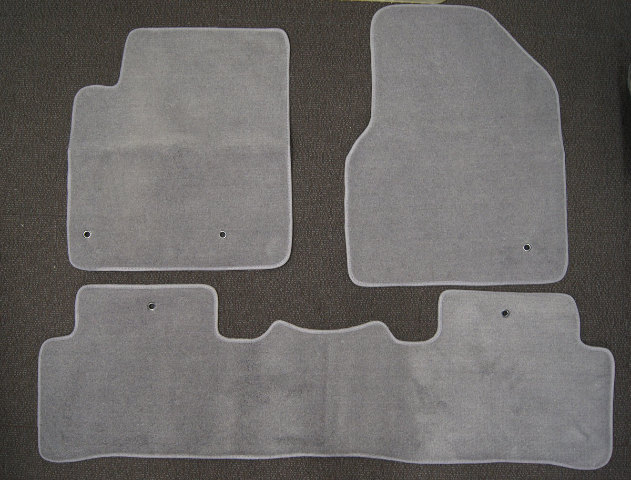 2009 15 Honda Pilot Floor Mats 3pcs Gray Carpet New Aftermarket Front Amp 2nd Row
