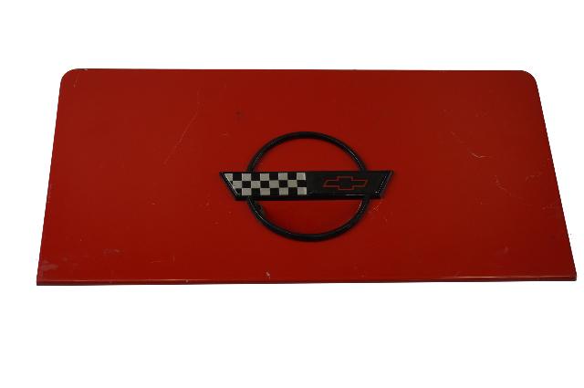 1986-1996 Corvette C4 Convertible Fuel Gas Tank Door Lid GM OEM GENUINE USED RED