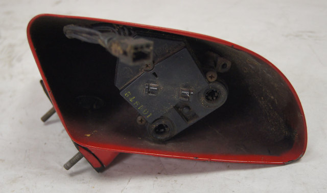1984-1996 Chevy Corvette C4 Right Outside Mirror Housing Red Used 10273680