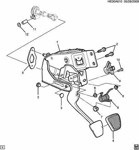 Gm Brake Clutch Position Sensor New Oem 10366474 20995840 15223506