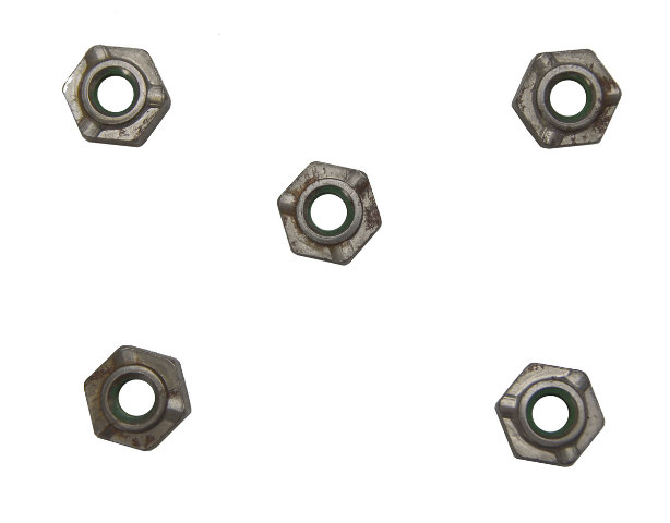 GM Weld On Hex Nuts W/Locktite Pack of 5 New OEM M6 X 1.00 11514014