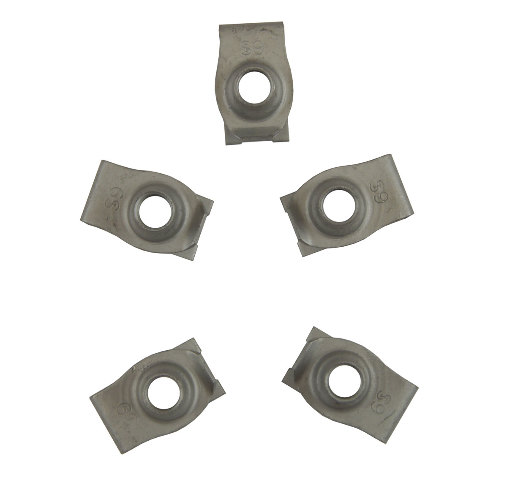 GM Clip-On Nut Pack of 5 New M8 X 1.25 OEM 11518444 11509205