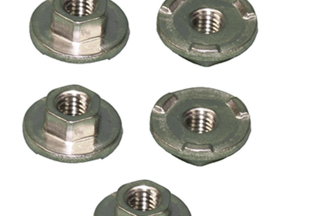 GM Hex Flanged Weld Nuts Pack of 5 New OEM M12 X 1.75-6E 11588325
