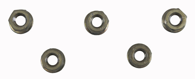 GM Hex Head Nut W/Washer Pack of 5 M6 X 1 X 5 New OEM 11900451