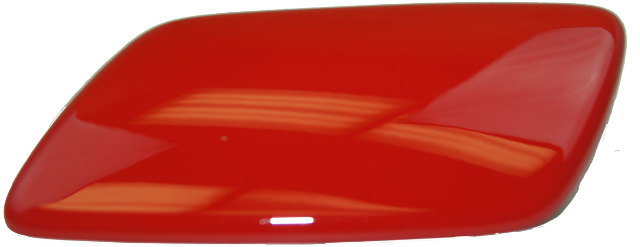 2005-2013 Chevy Corvette C6 Left Headlamp Washer Wiper Nozzle Cover Red 10327692