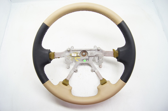 1999-2001 Isuzu VehiCROSS Rodeo Passport OEM Steering Wheel Tan Black Leather