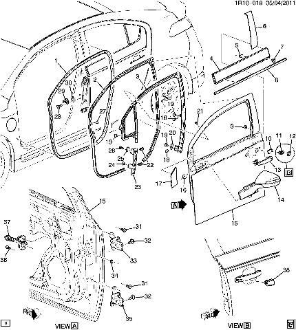 2014 Chevy Silverado Door Lock Diagram