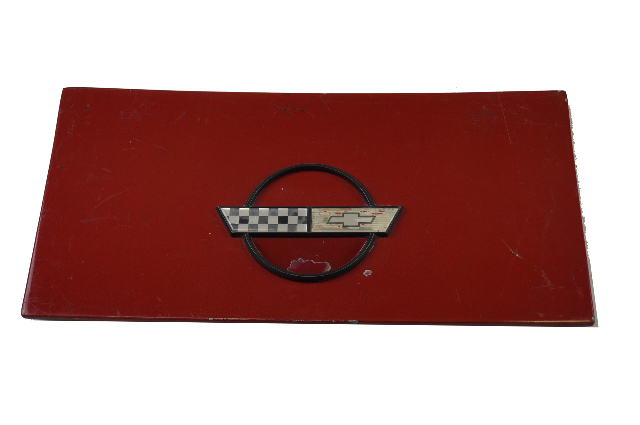 1984-1996 Corvette C4 Coupe Fuel Gas Tank Door Lid GM OEM GENUINE USED RED