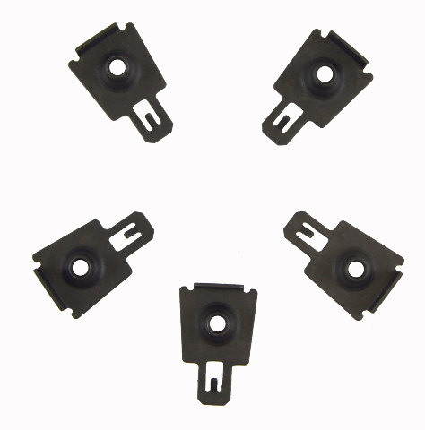 Gm Clip Retainer Pack Of 5 New Oem Black M6 X 1 00