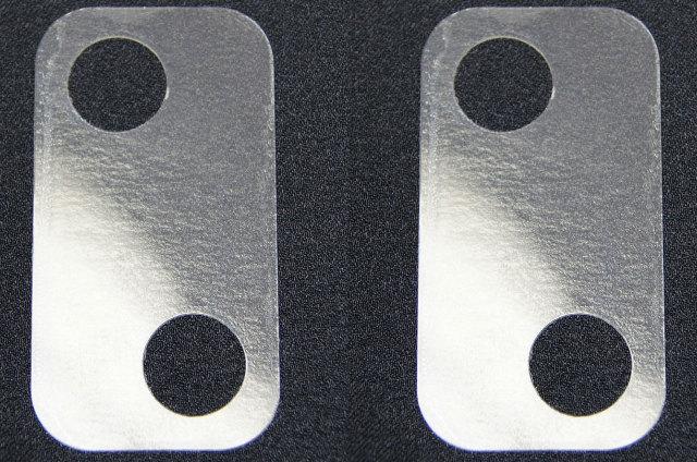 2003 09 Hummer H2 Door Lock Striker Shims Pair 2pcs Clear Plastic New 15101400 Factory Oem Parts