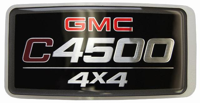 05-09 GMC Topkick C4500 4X4 Nameplate Badge Label Decal Model Logo New 15129992