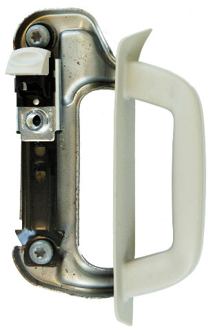 2006-2010 Hummer H3 Interior Door Handle With Bracket Grey RHPassenger