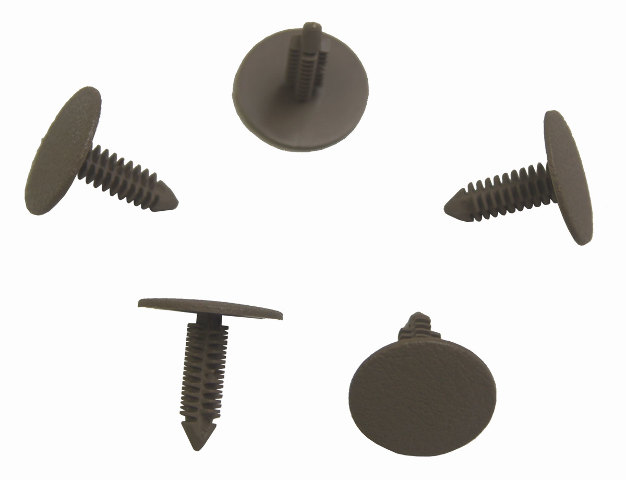 1996-2009 GM Push Pin Retainers Pack of 5 Neutral Tan New OEM 15722882