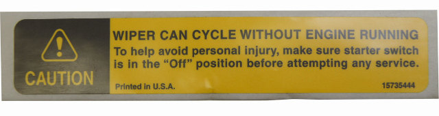 1997 09 Gmc Topkick Chevy Kodiak Caution Label English