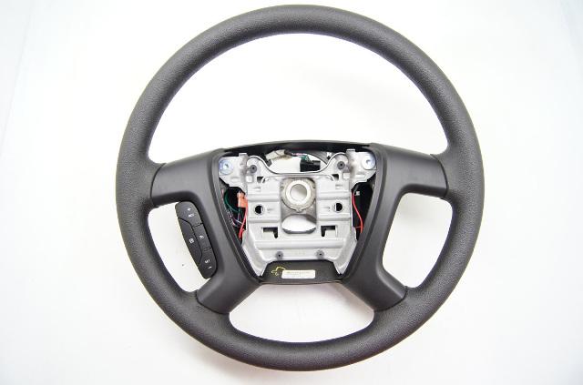 2007-2010 Saturn Outlook Steering Wheel, Black Polyvinyl w/ Radio Control Switch