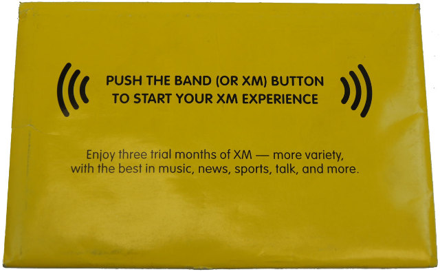 XM Satellite Radio Trial Booklet GM 15778583