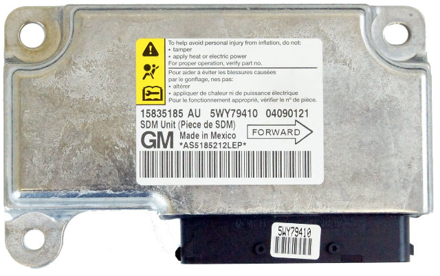 New 2008-2010 Saturn Aura Airbag Sensor Module 15835185