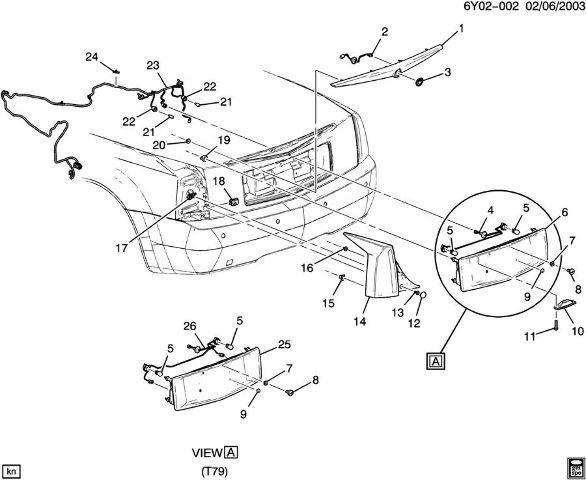 [XOTG_4463]  2004-09 Cadillac XLR Rear Fog Lamp Wiring Harness Export Cars 15853353  10392747 | eBay | Cadillac Xlr Wiring |  | eBay