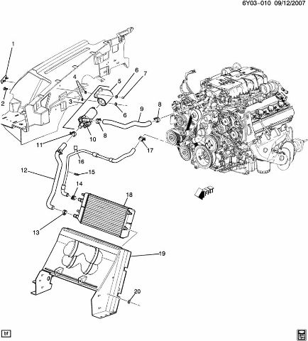 Details about Cadillac XLR XLR-V Supercharger Hose Pump Hose Radiator on