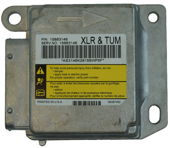 2009 Cadillac XLR Air Bag Module ECU Diagnostic Unit (XLR + TUM) New 15883146