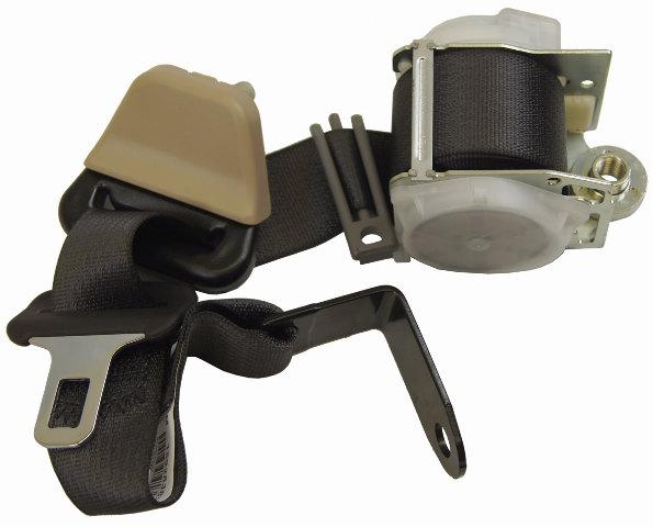 2006-2010 Hummer H3 Rear Left Seat Belt Assy Black & Cashmere 15928383 89027203