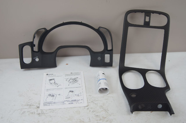 2008-2013 Chevy Corvette C6 Interior Trim Kit Matte Carbon Fiber New 19165880