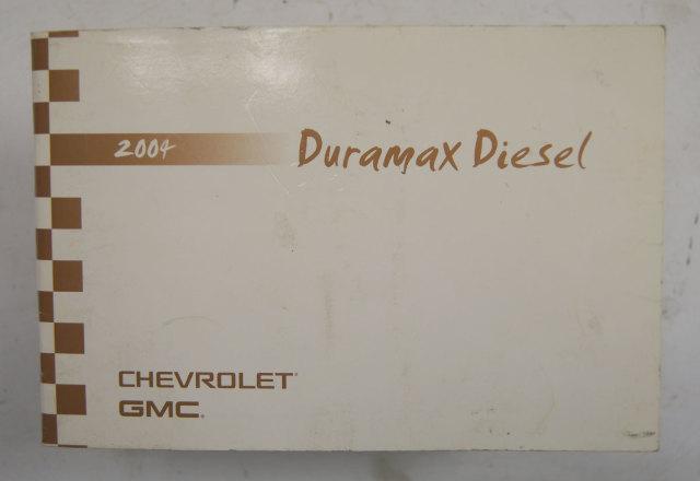 2004 Chevy Gmc Sierra Silverado Duramax Diesel Owners Manual Used