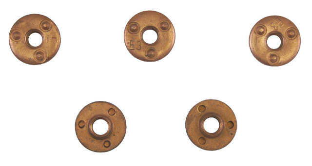 GM Round Weld Nut Pack of 5 Copper Unthreaded M10 30mm Wide New 20423251