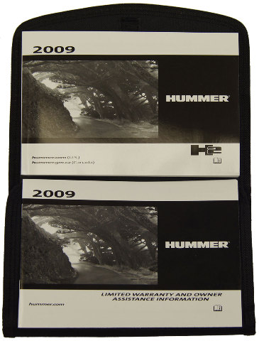 2009 Hummer H2 Owners Manual Glovebox Pouch Black For Us