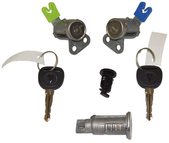2006-2009 Pontiac Solstice Ignition+Doors+Glove Box Lock Cylinders W/2 Keys OEM