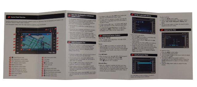 Gm Vehicles Touch Screen Navigation Infotainment Quick Reference Guide Booklet on 2006 Cadillac Cts Side View