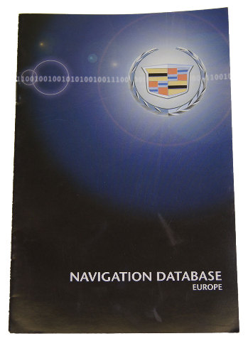 Cadillac Navigation System Map Database Booklet For Europe New In English