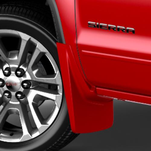 2014-2016 GMC Sierra Chevy Silverado Front Mud Flaps Pair New OEM Red 22902398