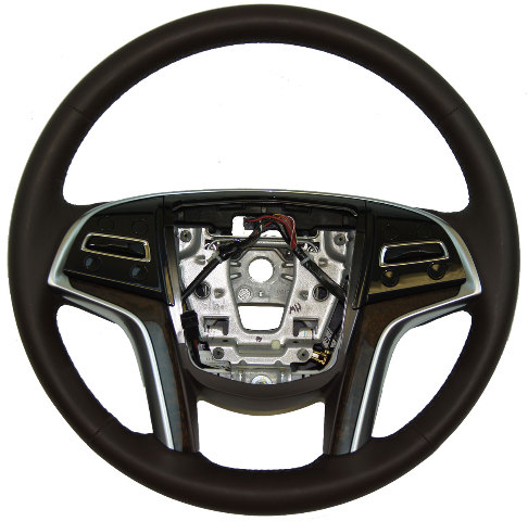 2013-15 Cadillac XTS Steering Wheel Cocoa Leather W/Heat W/Paddle Shift 23194620