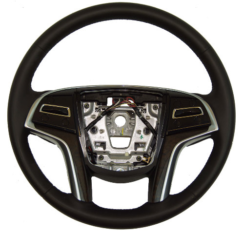 2013 2014 Cadillac Xts Steering Wheel Black Leather Brown