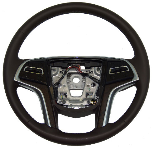 Cadillac Xts Steering Wheel Cocoa Leather Brown W Heat W Acc