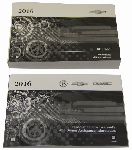 2016 Chevrolet Silverado Canada Owners Manual Booklet New Oem 23133506 23133519 Factory Parts