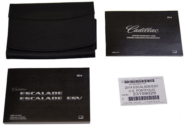 Cadillac Escalade Escalade Esv Owners Manual Booklet W Leather Pouch New