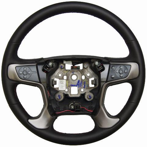 2015-2016 Silverado Sierra Steering Wheel Black Leather Red Stitching 23278615