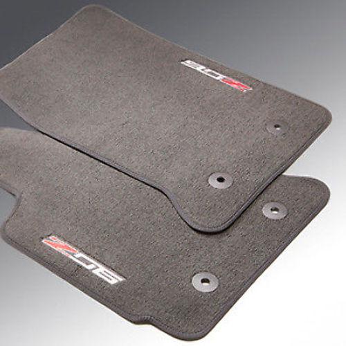 2015-2016 Chevy Corvette Floor Mats LH & RH Galvanized Grey W/Z06 Logo 23476291