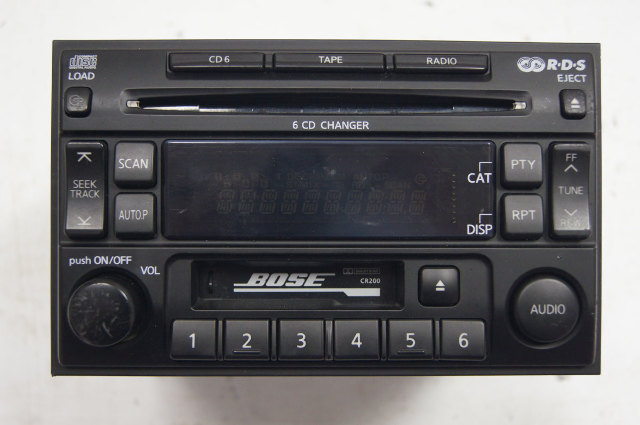 2002-2004 Nissan Pathfinder 6 Disc CD/Tape/AM/FM Radio Double Din Used 2543N